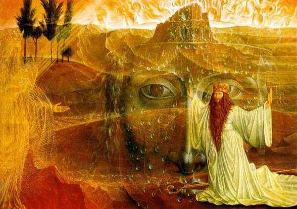 Moses and the Burning Bush by Ernst Fuchs